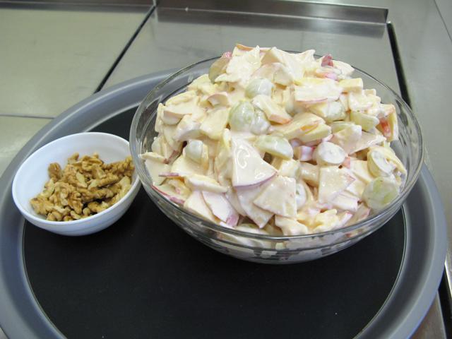 Weintrauben Käse Salat Hof Familie